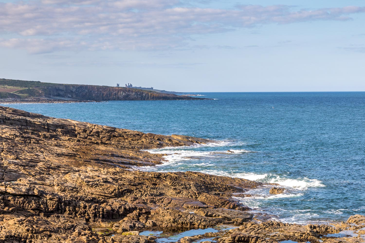 The Bathing House Northumberland view of Dunstanburgh Castle