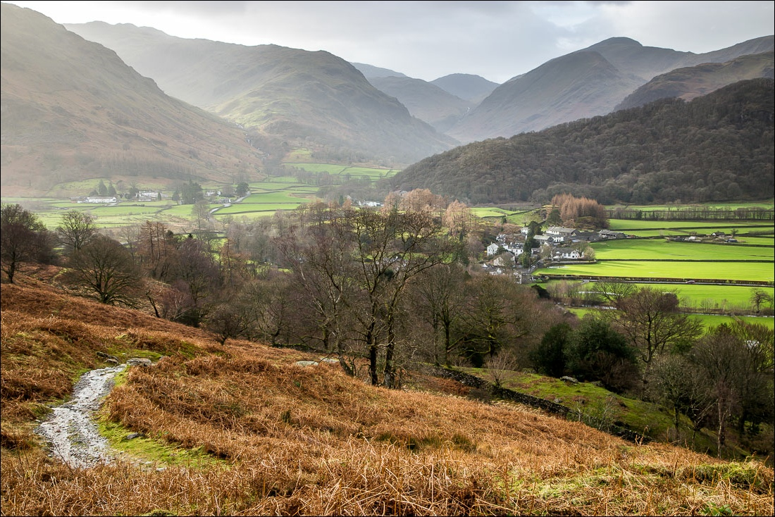 Rosthwaite and the Borrowdale Valley view