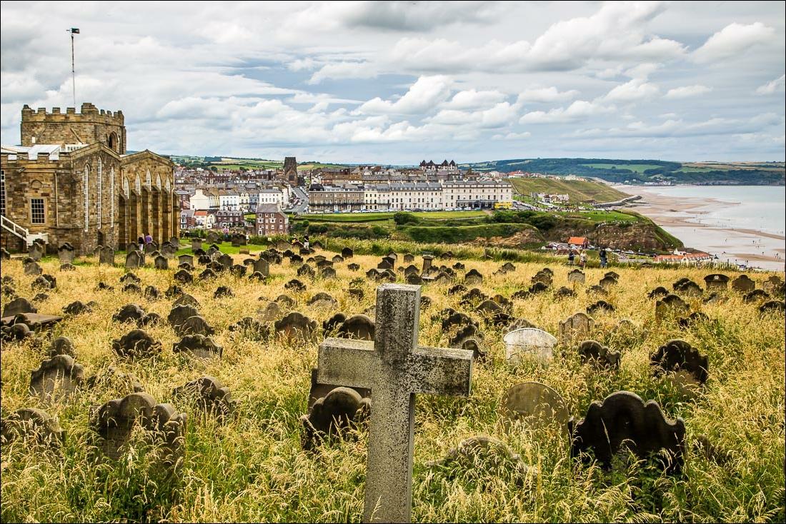 Robin Hood's Bay to Whitby, St Marys Churchm draccula