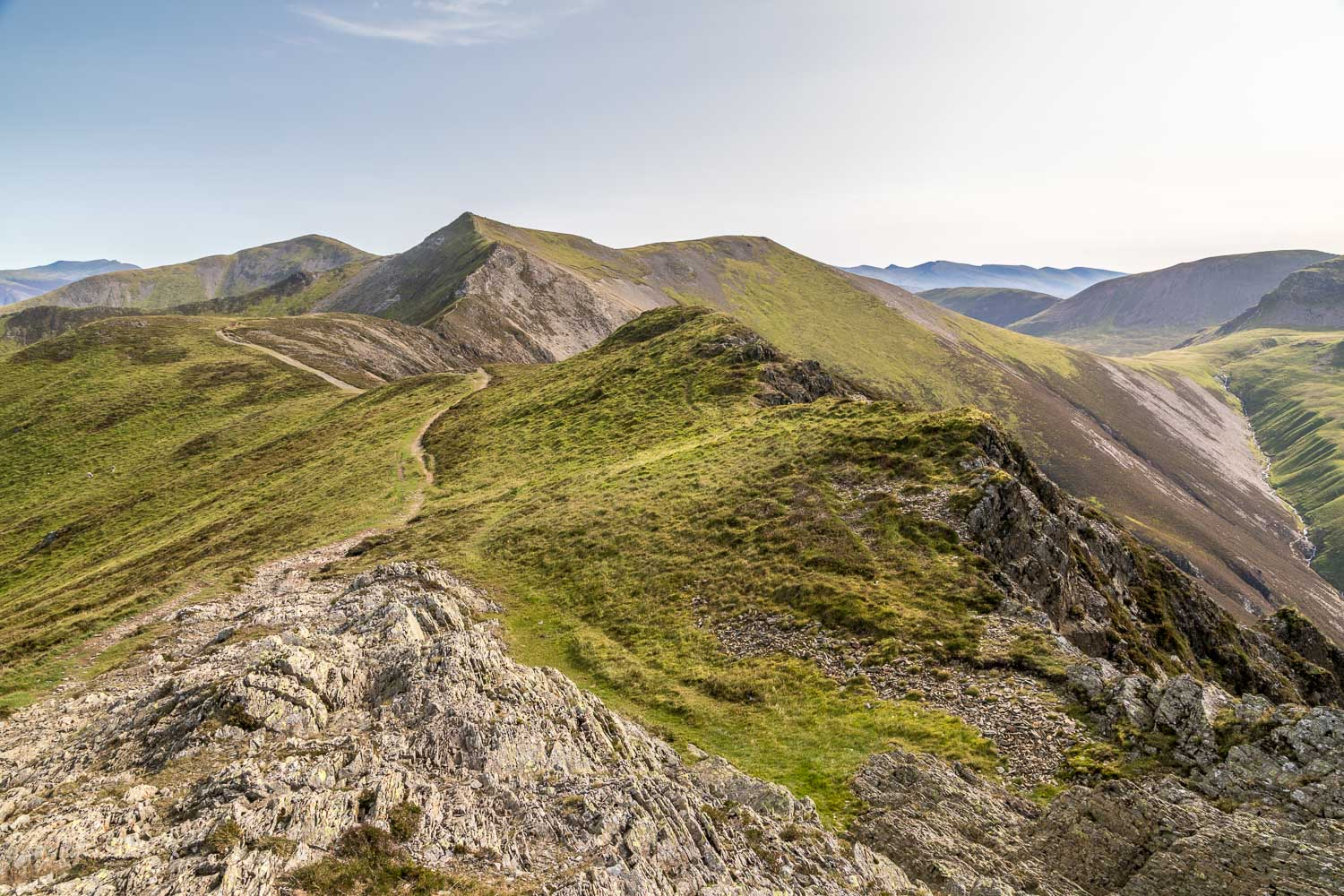 Whiteside ridge, Hopegill Head ridge