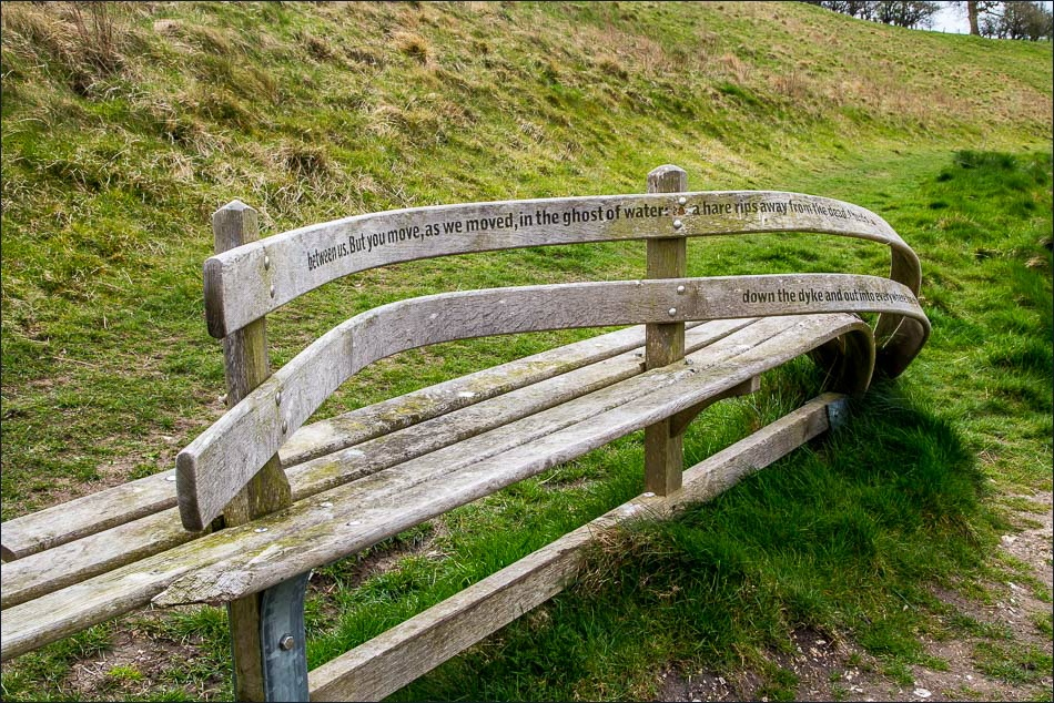 poetry bench, Wolds Way