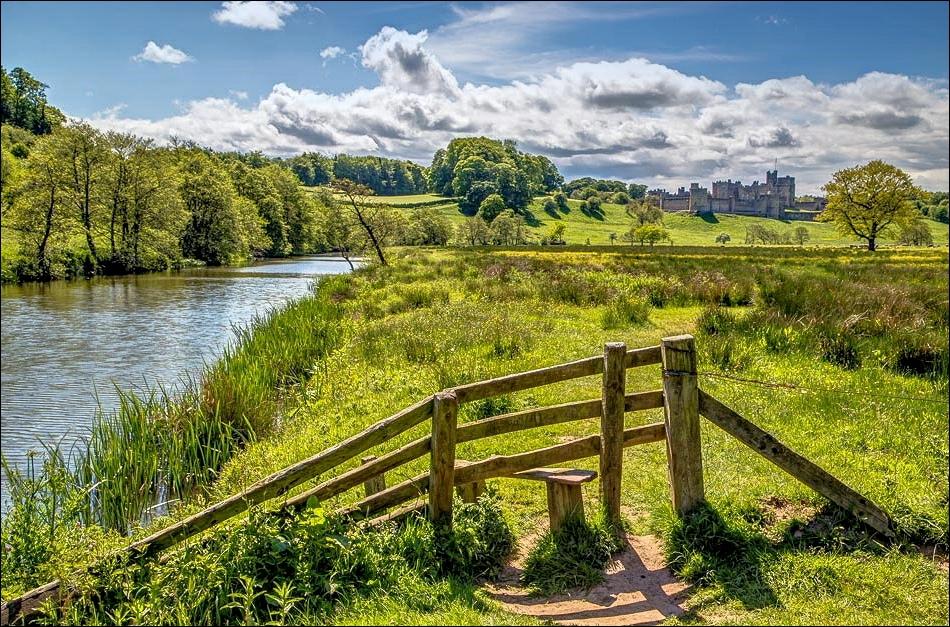 Alnwick walk, River Aln