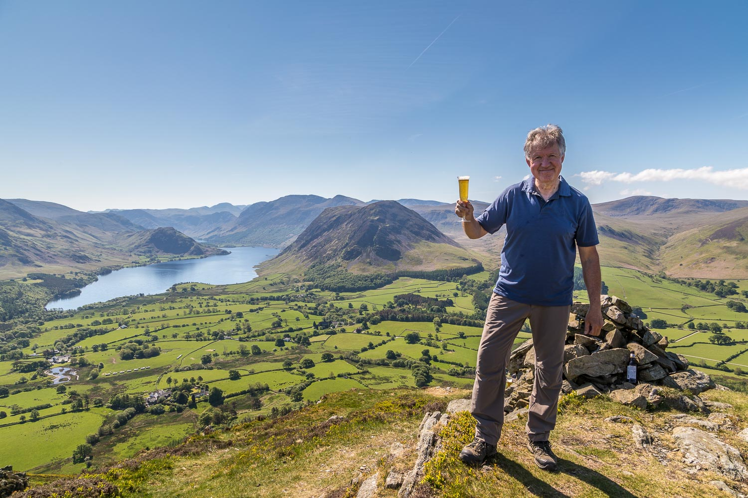 Andrew's Walks 1,000th Wainwright on Low Fell